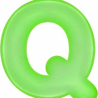 Opblaas letter q groen