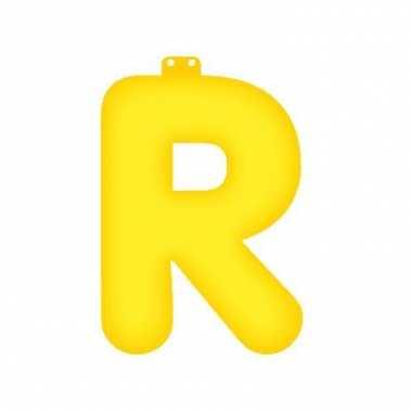 Opblaas letter r geel