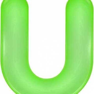 Opblaas letter u groen