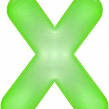 Opblaas letter x groen