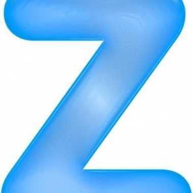 Opblaas letter z blauw