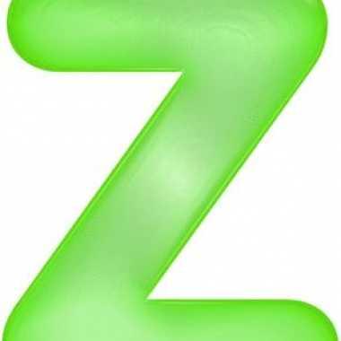 Opblaas letter z groen