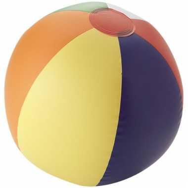 Opblaas strandbal met kleurtjes