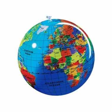 Opblaas wereldbol 30 cm