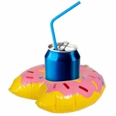 Opblaasbare drankhouder donut 34 cm