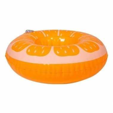 Opblaasbare drankhouder sinaasappel 17 cm