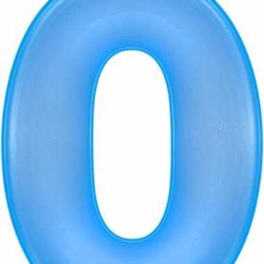Opblaasbare getal 0 blauw