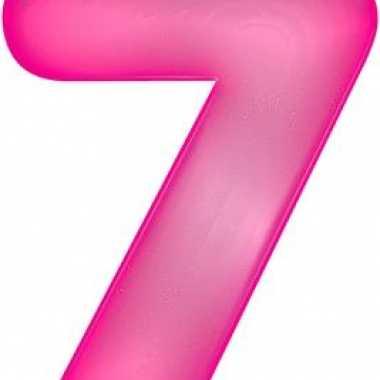 Opblaasbare getal 7 roze