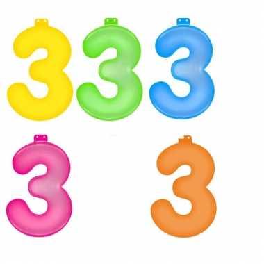 Opblaasbare getallen 3 van 35,5 cm