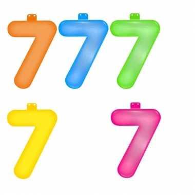 Opblaasbare getallen 7 van 35,5 cm