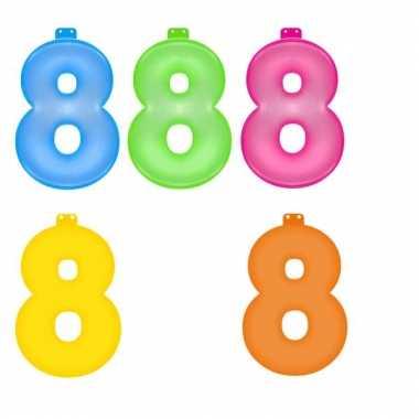 Opblaasbare getallen 8 van 35,5 cm