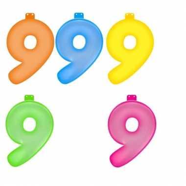 Opblaasbare getallen 9 van 35,5 cm