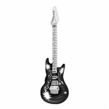 Opblaasbare gitaar zwart 106 cm