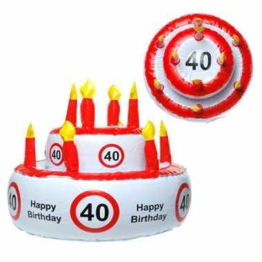 Opblaasbare verjaardagstaart 40 jaar