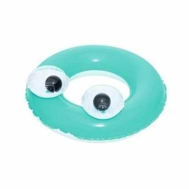 Opblaasbare zwemband groen 61 cm voor kinderen