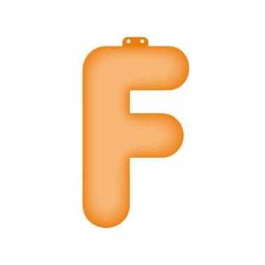Opblaasletter f oranje