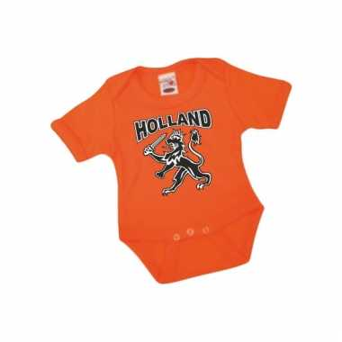 Oranje babypakje met korte mouwen