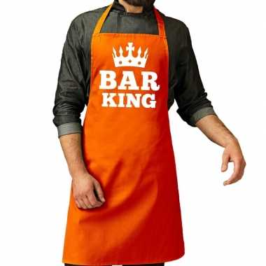 Oranje bar king keuken schort heren