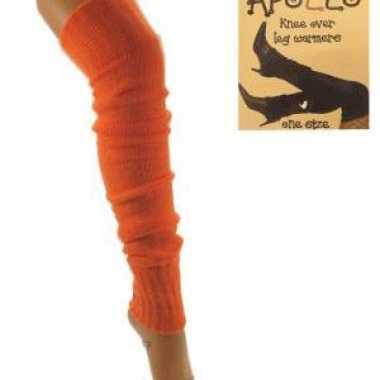 Oranje beenwarmers volwassenen