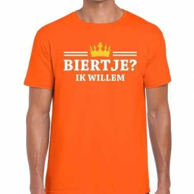 Oranje biertje ik willem t-shirt heren