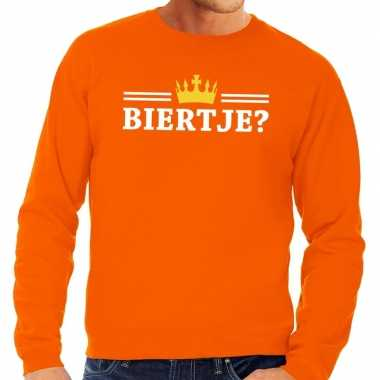Oranje biertje sweater heren