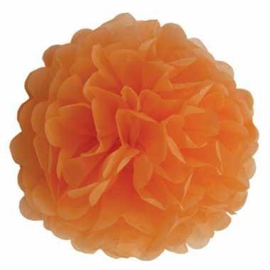 Oranje bloem pompom 35 cm