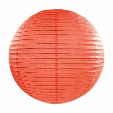 Oranje bol lampion 35 cm