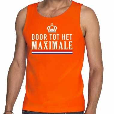 Oranje door tot het maximale tanktop / mouwloos shirt voor heren