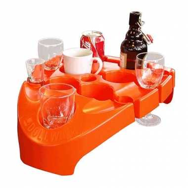 Oranje drankjes draagtray