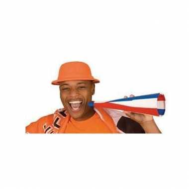 Oranje feesthoedje van foam