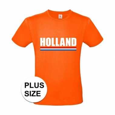 Oranje holland supporter grote maten shirt heren