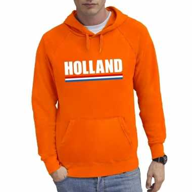 Oranje holland supporter hoodie heren