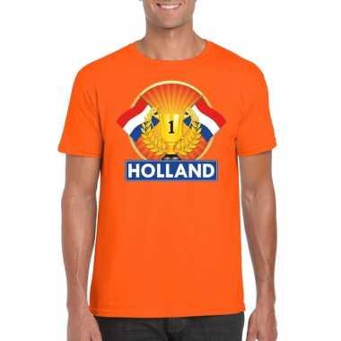 Oranje holland supporter kampioen shirt heren