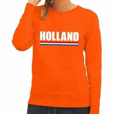 Oranje holland supporter sweater dames