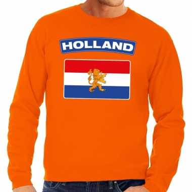 Oranje holland vlag sweater heren