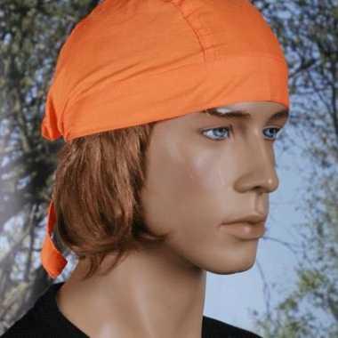 Oranje hoofddeksel bandana uni 1