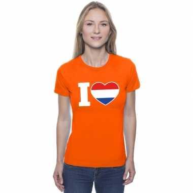 Oranje i love holland shirt dames
