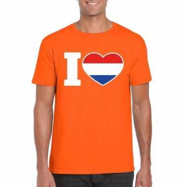 Oranje i love holland shirt heren