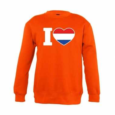 Oranje i love holland sweater kinderen