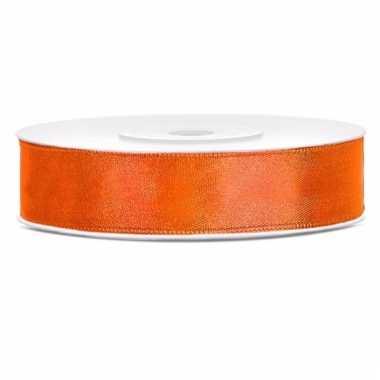 Oranje kadolinten satijn 12 mm
