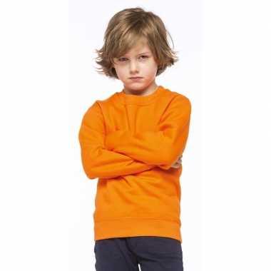 Oranje katoenmix sweater voor kinderen