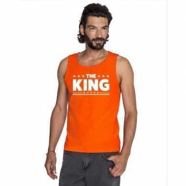 Oranje koningsdag the king tanktop heren