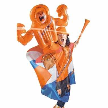 Oranje leeuw hand opblaasbaar