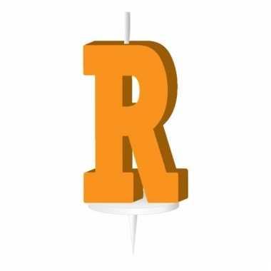 Oranje letter kaars r