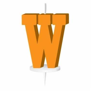 Oranje letter kaars w