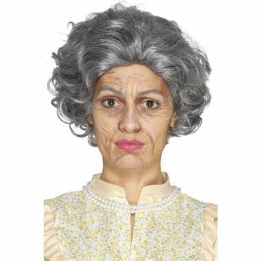 Oude dame oma schminkset 4-delig