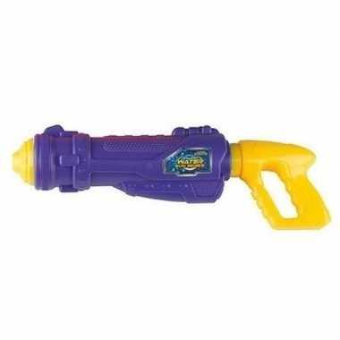Paars met geel waterpistool 44 cm