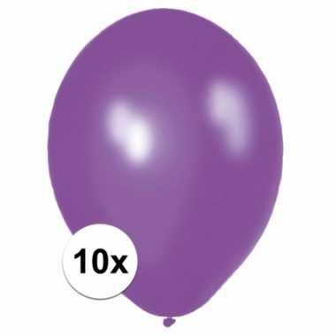 Paarse ballonnetjes 10 stuks