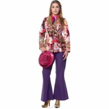 Paarse broek voor dames