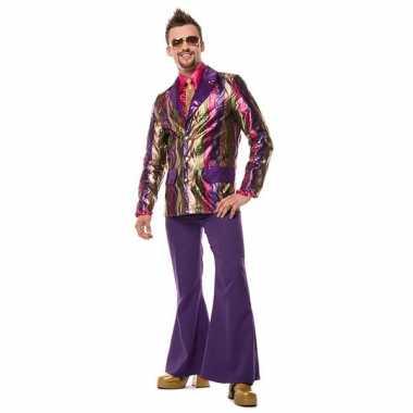 Paarse broek voor heren wijde pijpen voor heren